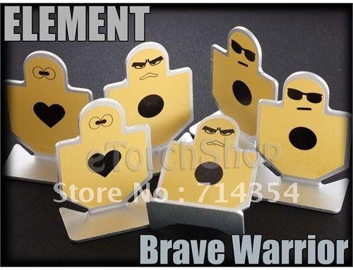 Element 6 Pieces/Lot Metal Shooting Training Target Brave Warrior YellowFree Shipping