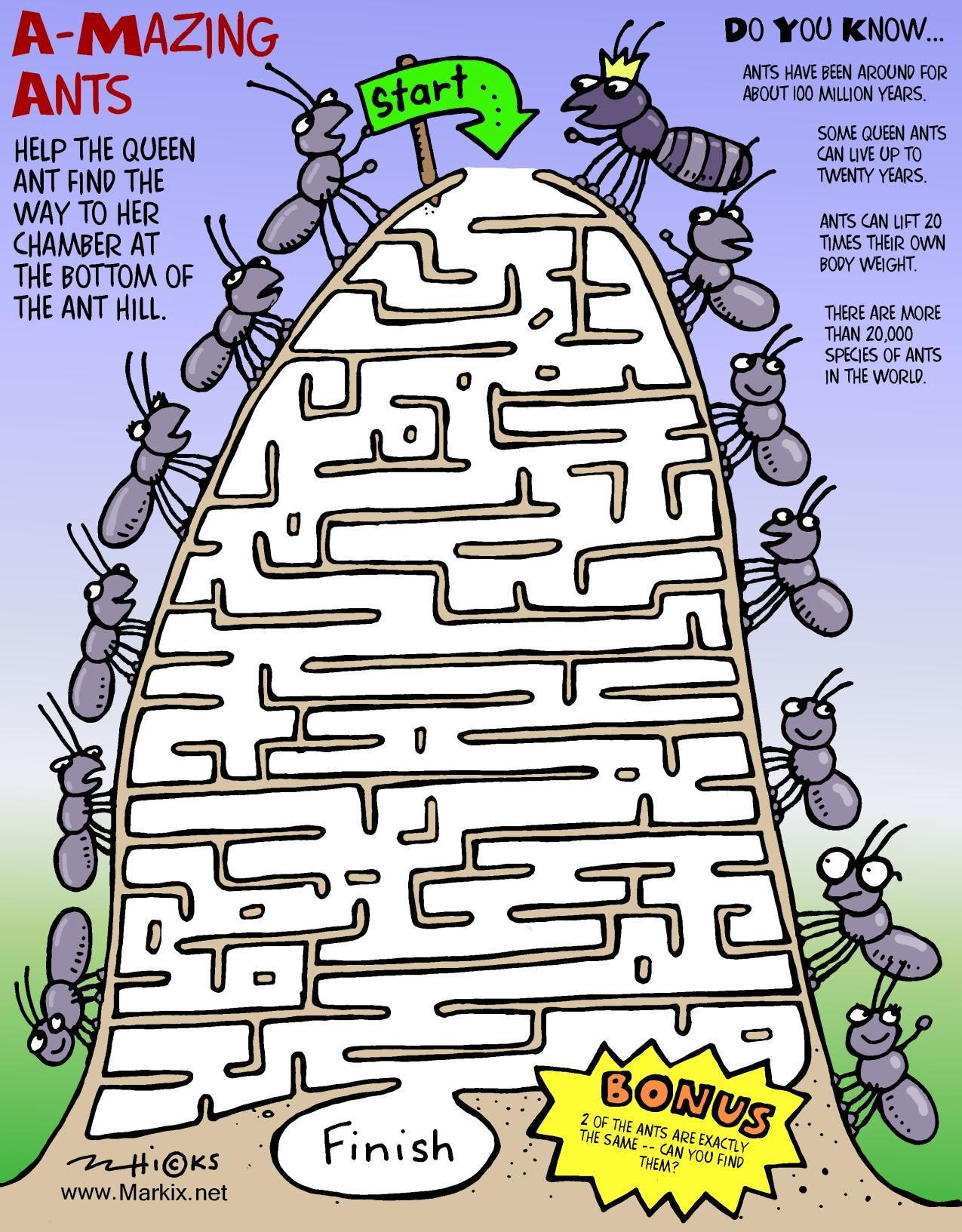 Amazing Ants Maze More Fun Activities At Rkix