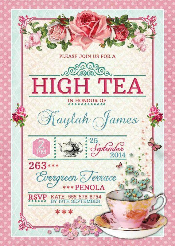 High Tea Invitation In 2019 Invitations