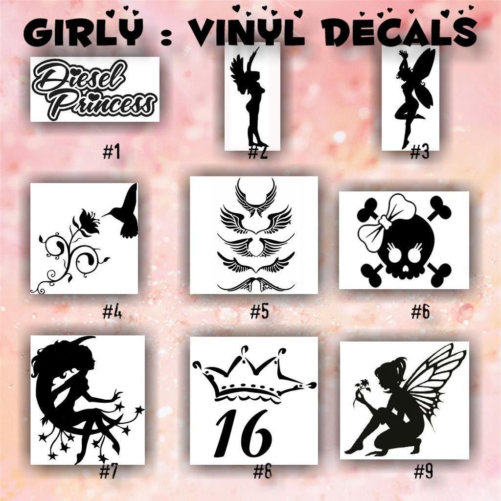Girly vinyl decals 1 9 car window sticker lips sticker hearts decals wall sticker personalized stickers custom vinyl decal