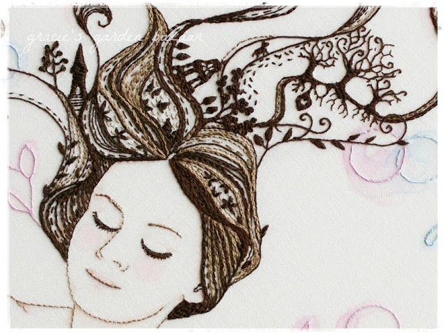 Embroidery by Gracie @ Gracie's Garden Bazaar: Sleeping Beauties