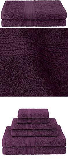 Eggplant Bath Towels Superior Eco Friendly 100 Ringspun