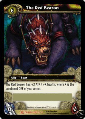 World of Warcraft The Red Bearon Epic Bear Mount Loot Card - Drums of War [Toy] @ niftywarehouse.com #NiftyWarehouse #WoW #WorldOfWarcraft #Warcraft #Gaming