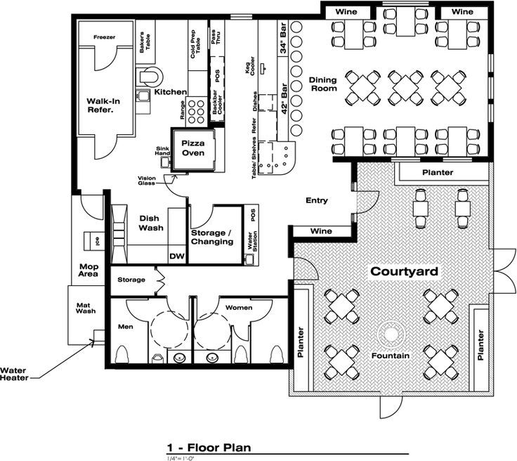 pin do a josue em restaurant floor plans pinterest. Black Bedroom Furniture Sets. Home Design Ideas