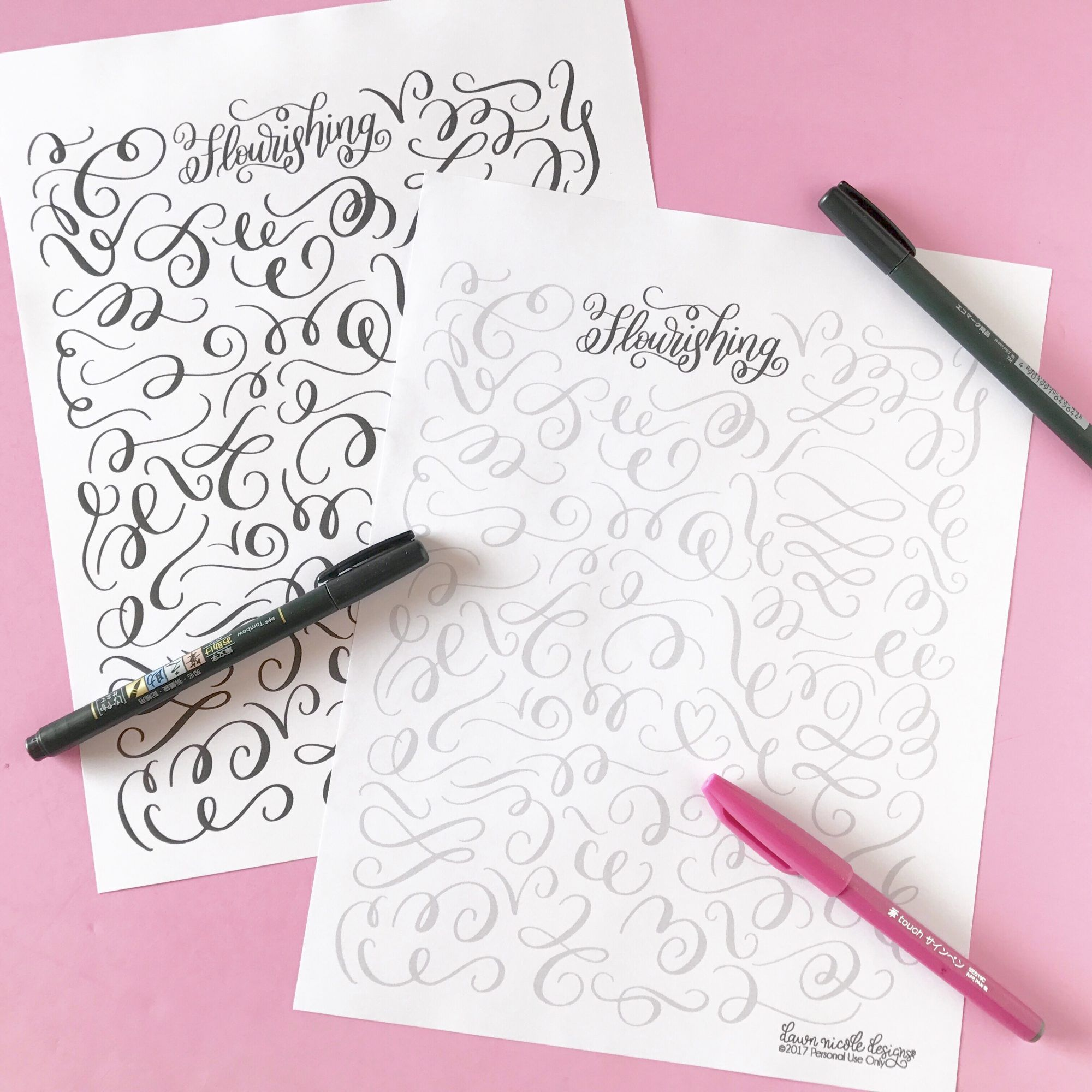 Flourishing Tips And Free Practice Worksheet Set