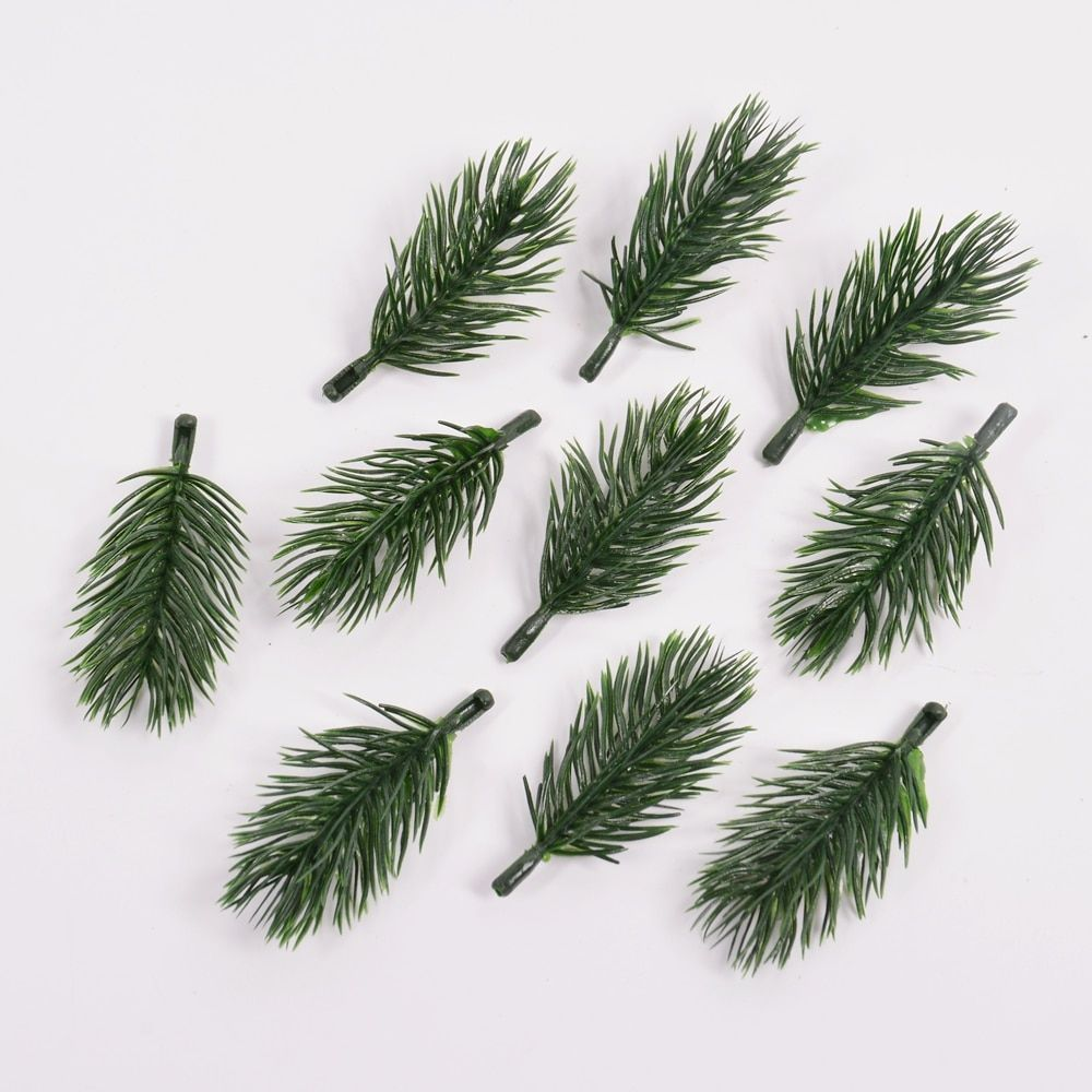 a3b77c318a639 10PCS pine needle artificial fake plant artificial flower branch For ...