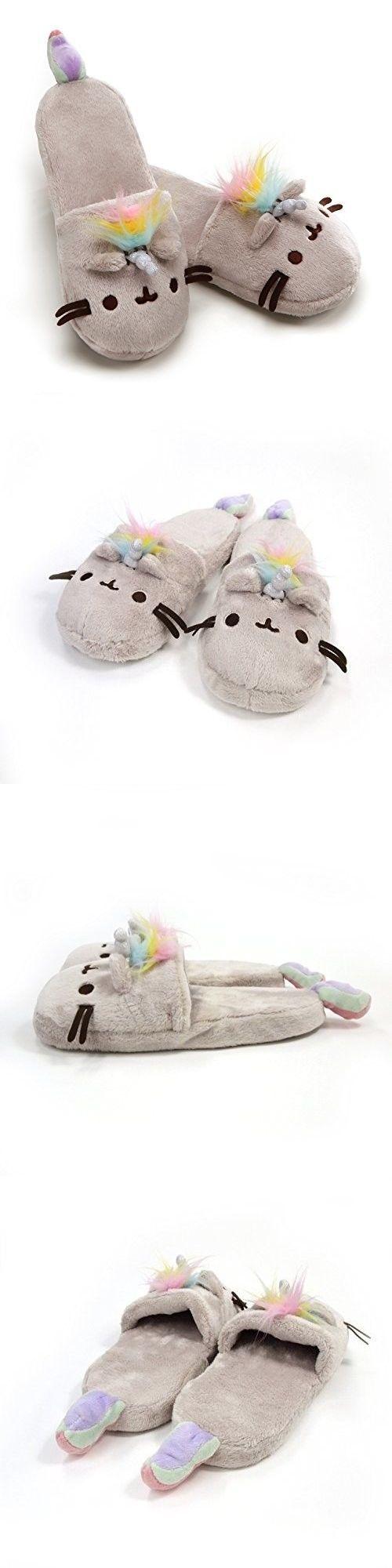 773757c5149 Gund 2598  Gund Pusheenicorn Pusheen Unicorn Cat Plush Stuffed Animal  Slippers