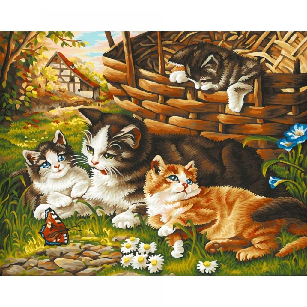 Cats Diy Paint By Numbers Kits PBN95506 in 2020 Wall art