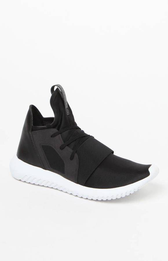 adidas Women s Black Tubular Defiant Sneakers  e57e469e18