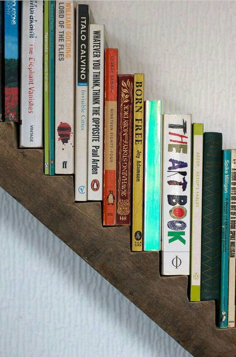 25 Stunning Creative Bookshelves Design Ideas