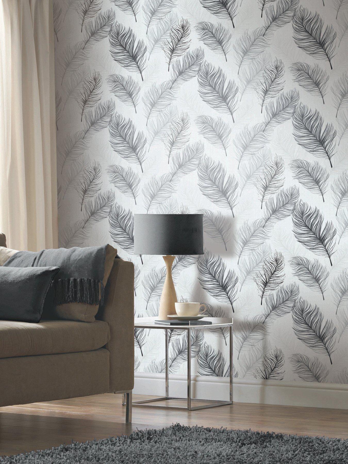 Best Arthouse Whisper Black White Wallpaper Black White White Wallpaper Feature Wall Living 640 x 480