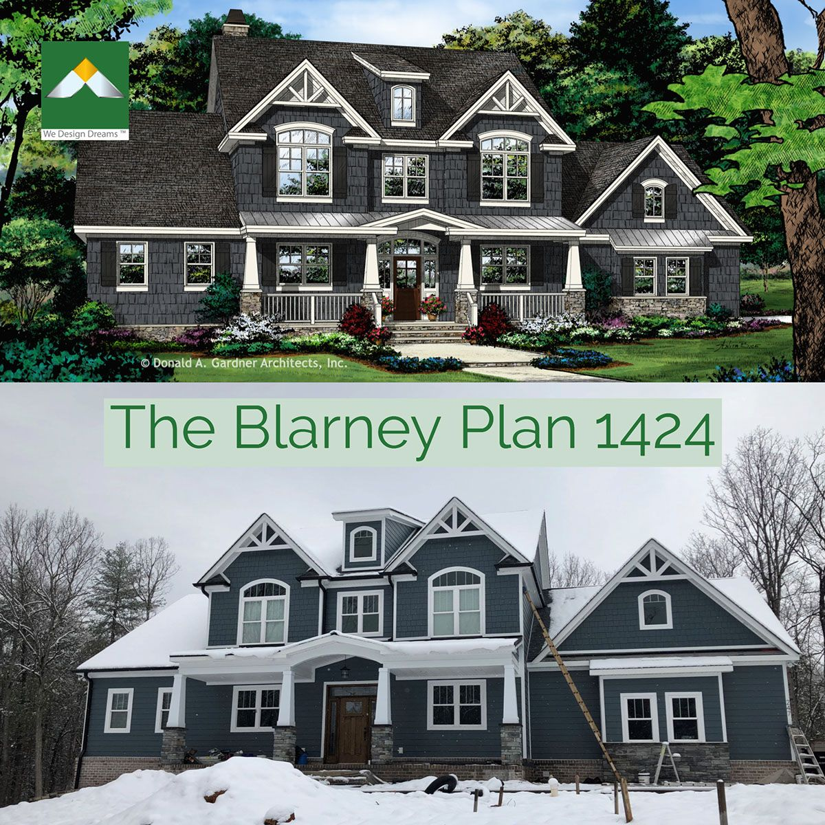 The Blarney Plan 1424 Is Almost Complete Wedesigndreams Dongardnerarchitects Colonial House Plans House Plans House Plans Farmhouse