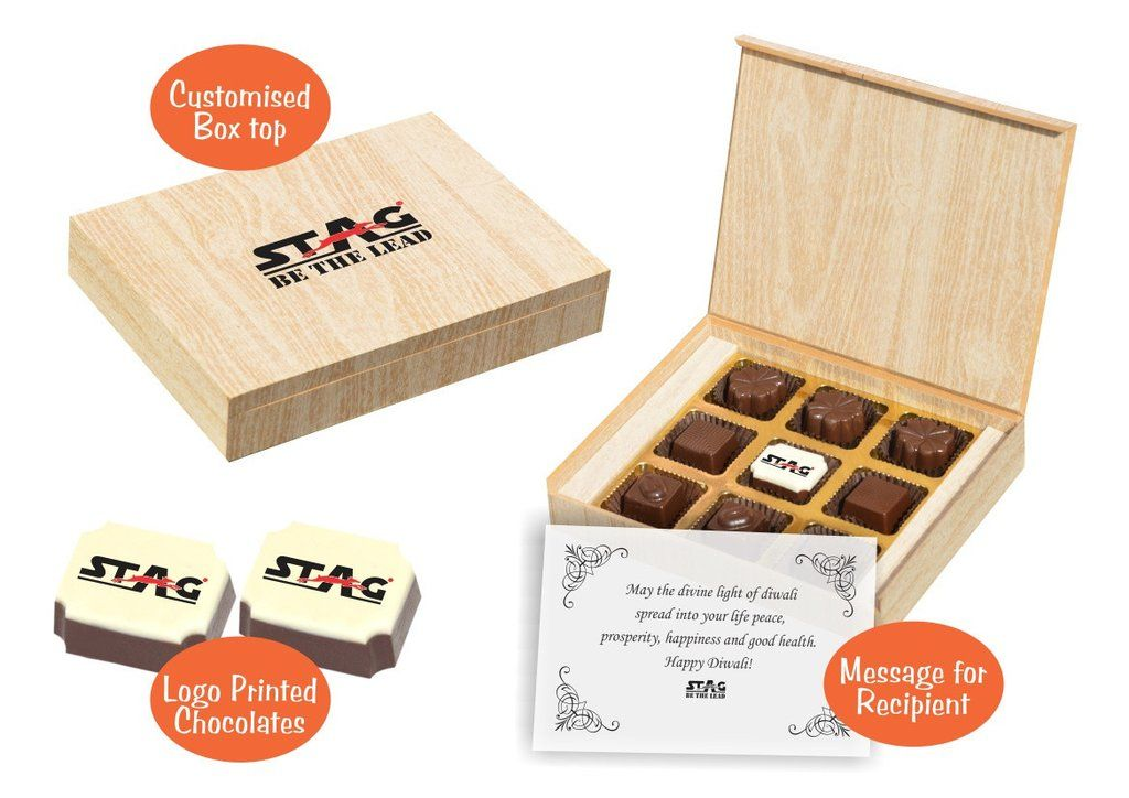 Diwali gift hampers for corporate (9 Chocolates - Sample Box