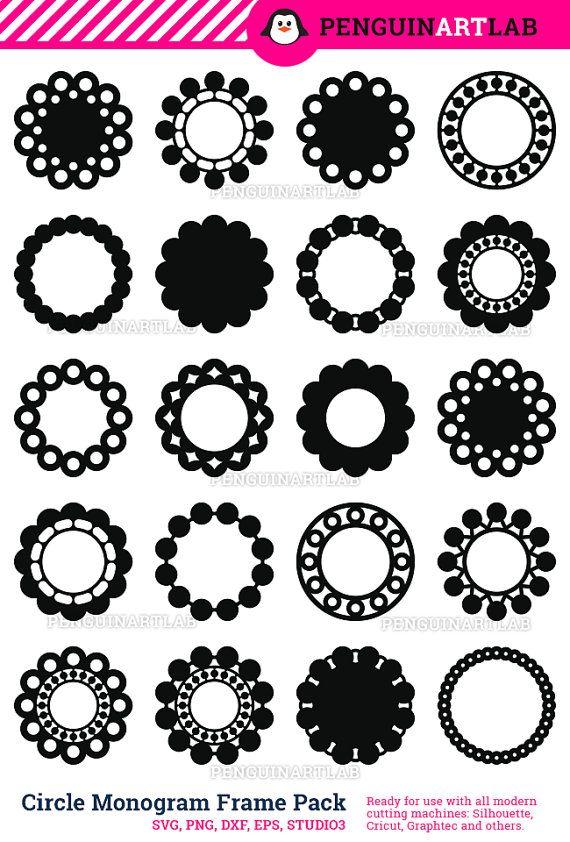 Paquete de archivos SVG decorativo diseño corte: 20 círculo ...