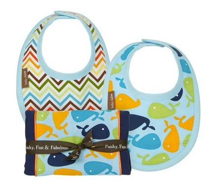 Cute Chevron Burp Cloths & Bibs...Great gift for a baby shower!