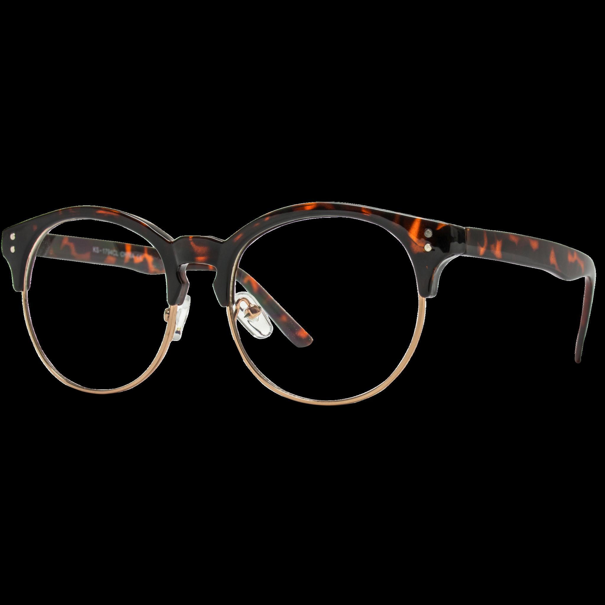 0763324b44e Winter - Clear Semi-Rimless Round Retro Non Prescription Glasses. A  semi-rimless frame that has retro and modern touches. The Winter has a  classic round ...