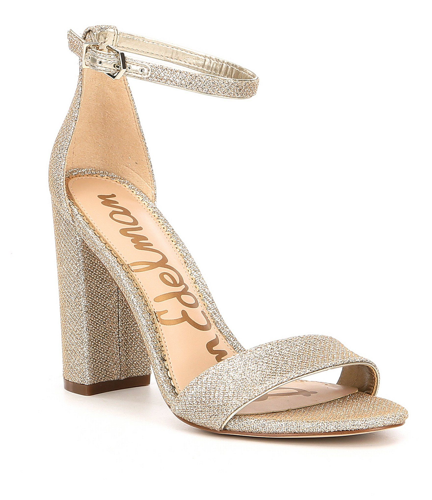 Sam Edelman Yaro Metallic Sequin Block Heel Dress Sandal 6yWdaPprnS