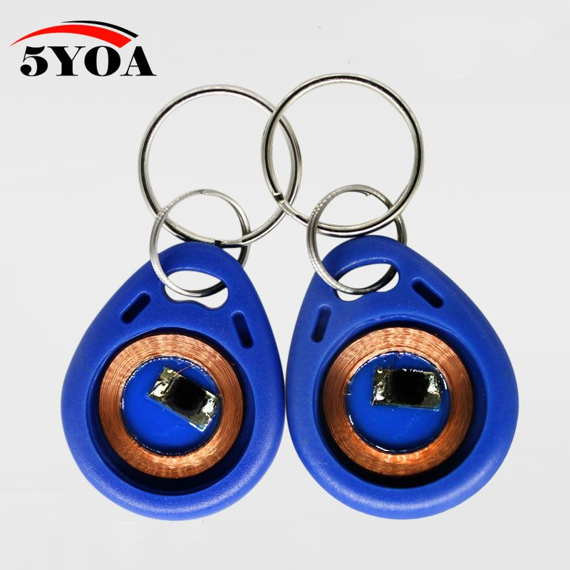 Free Samples 100pcs Rfid Tag Key Fob Keyfobs Keychain Ring Token 125khz Proximity Id Card Chip Tk Em 4100 4102 For Access Access Control Key Fobs Keychain