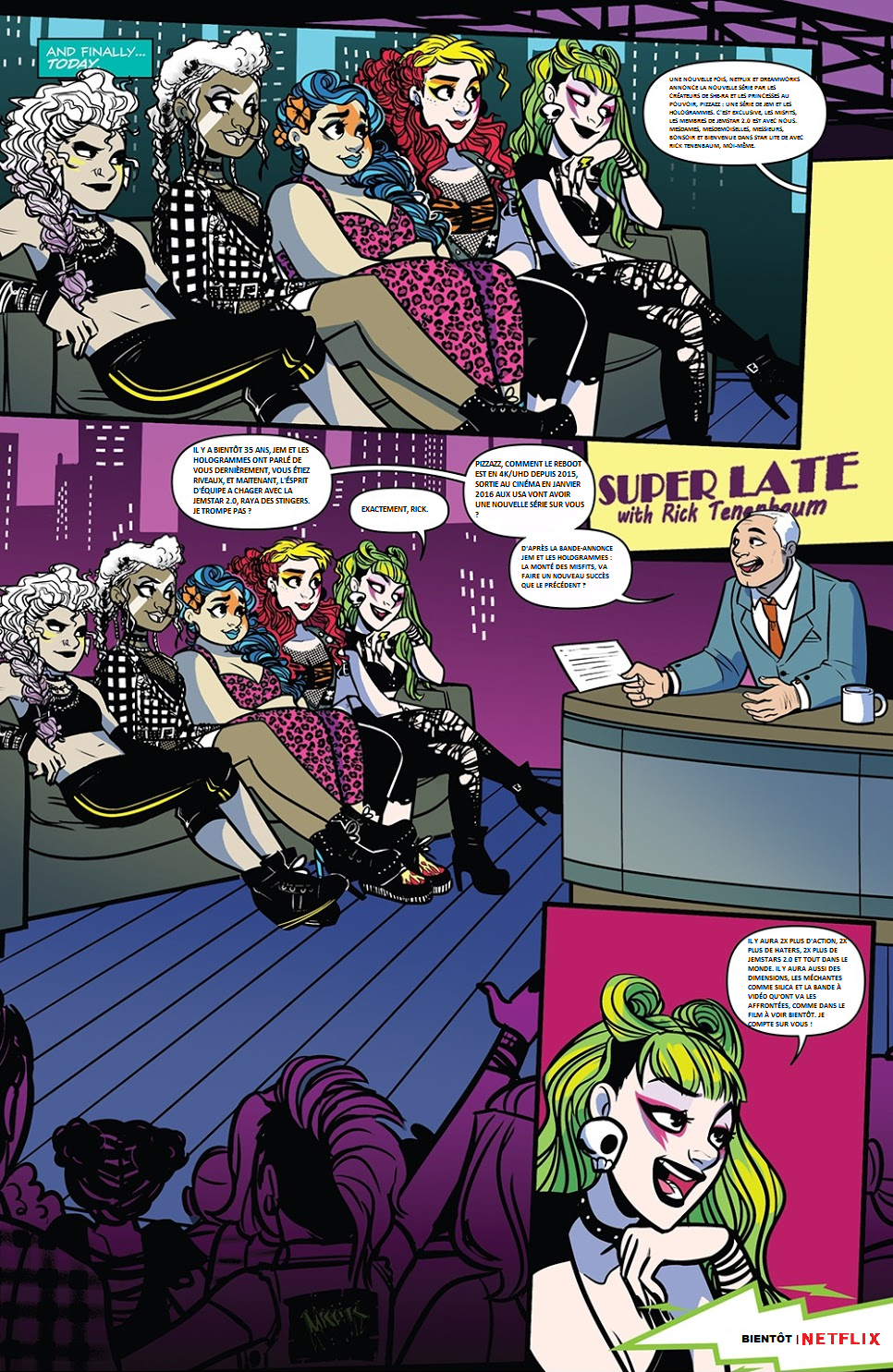 PIZZAZZ A series of Jem and the holograms / PIZZAZZ Une