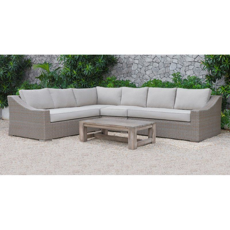 Abbot 5 Piece Sectional Seating Group With Cushions Sectional Sofa Beige Beige Sectional Sofa Set