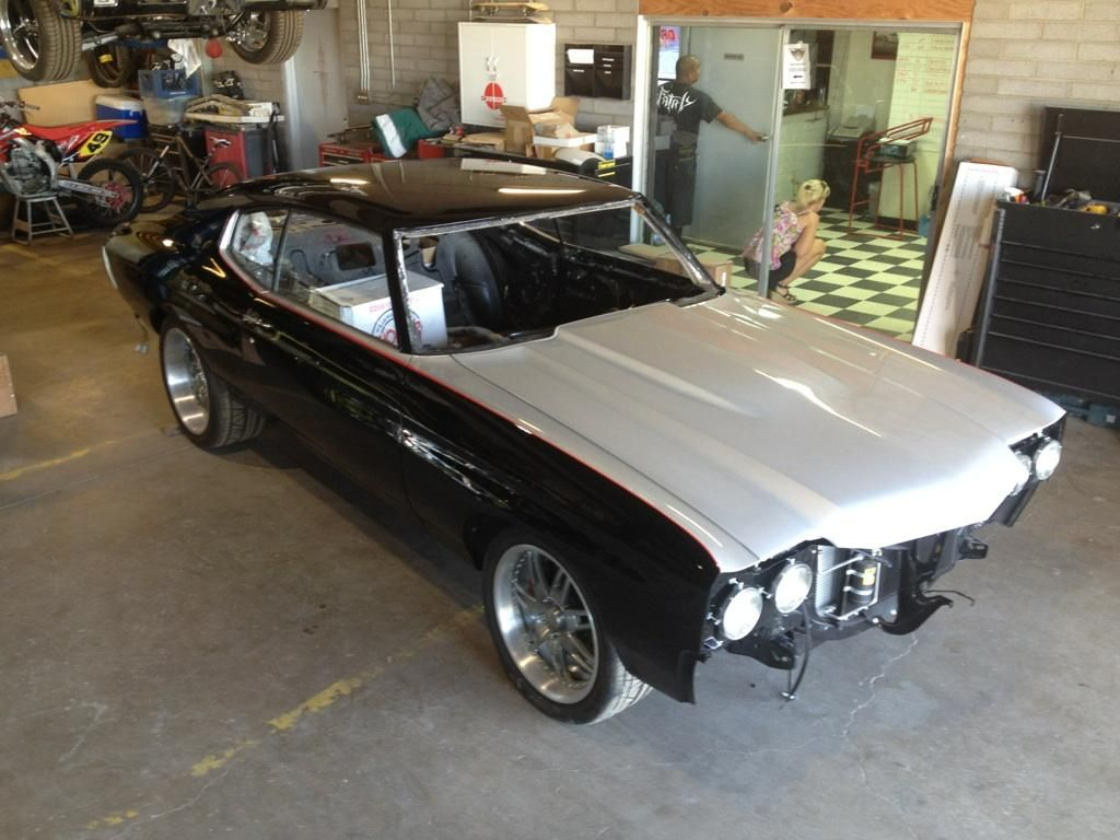 70 Chevelle Project Bullet Ls3 Rushforth Brushed Black Red Silver