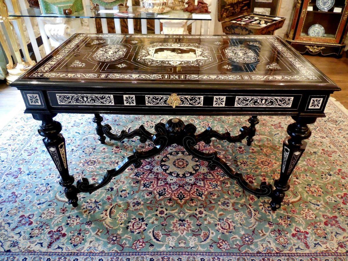 Table De Milieu D Apparat Travail De Ferdinando Pogliani Xixeme Tables Sur Table Art Du Temps Milieu