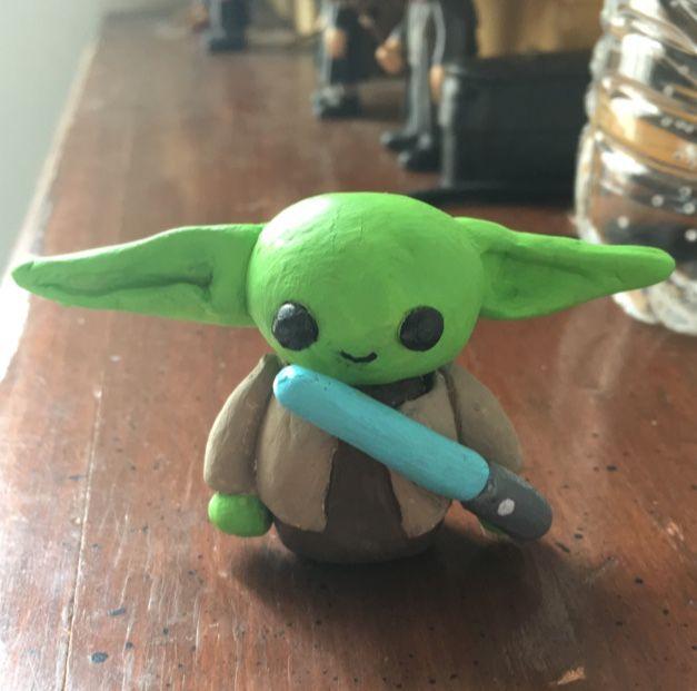 8 Diy Baby Yoda Crafts For Kids S S Blog In 2021 Star Wars Kids Crafts Clay Crafts For Kids Diy Baby Stuff