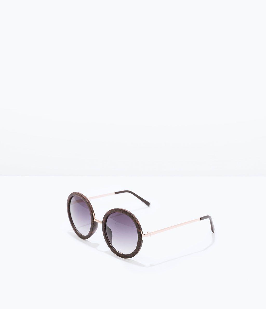 9107d70845 ZARA - MUJER - GAFAS DE SOL MADERA | ZARA | Gafas, Gafas para mujer ...
