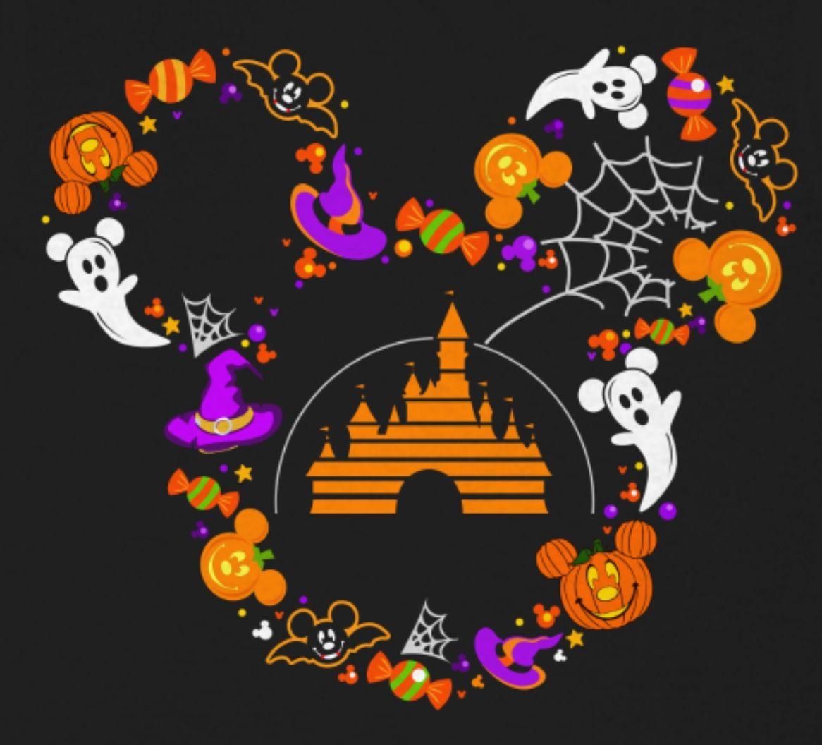 Pin By Rhonda James On Disney Shirts Mickey Halloween Halloween Wallpaper Disney Halloween