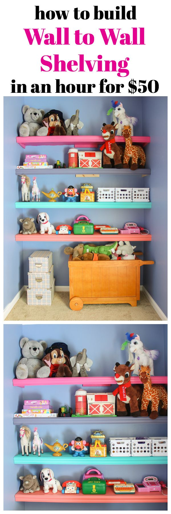 How to Build Wall to Wall Shelves | DIY Shelves | DIY Shelving | How to Build Shelves | How to Build Shelving | Beginner DIY Projects