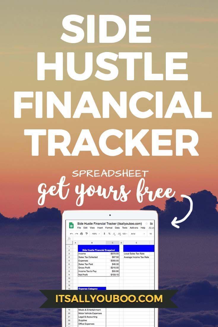 side hustle financial tracker free spreadsheet side hustles