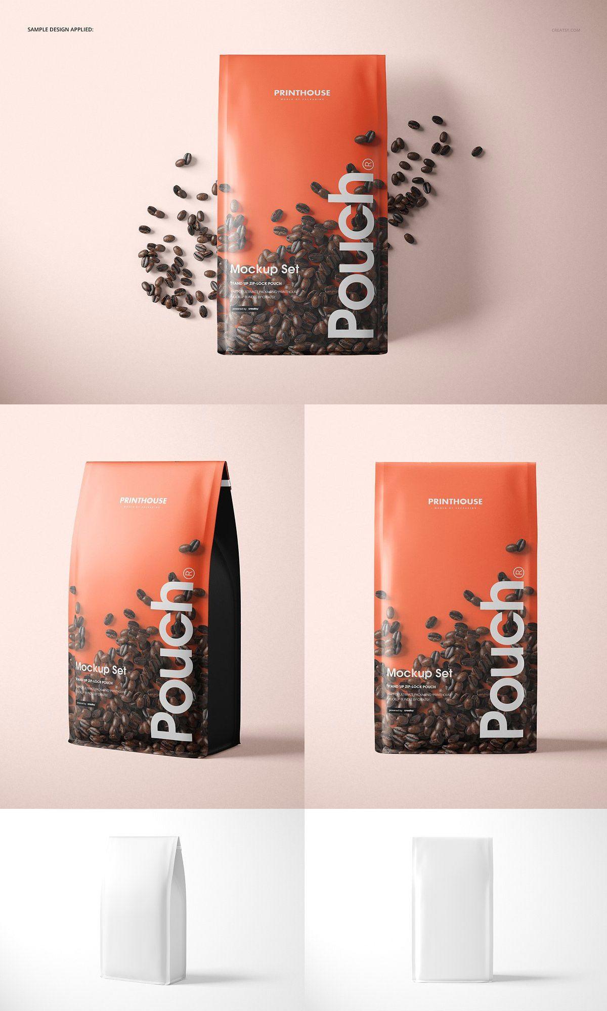 Download Gusset Bag Mockup Set Coffee Bag Design Coffee Bag Bag Mockup