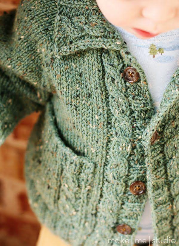 someday...boys knit cardigan   Knit and Crochet   Pinterest   Free ...