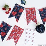 Head over to the blog and grab this free printable floral banner today! Such a fun way to add a bit of Americana to your decor. It goes perfect with the other 4th of July printables on the blog. 🇺🇸 www.bloominghomestead.com