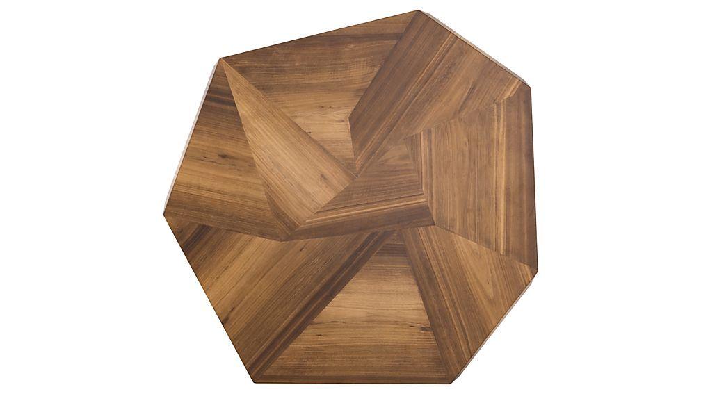 Bronx blonde yukas geometric dining table crate and