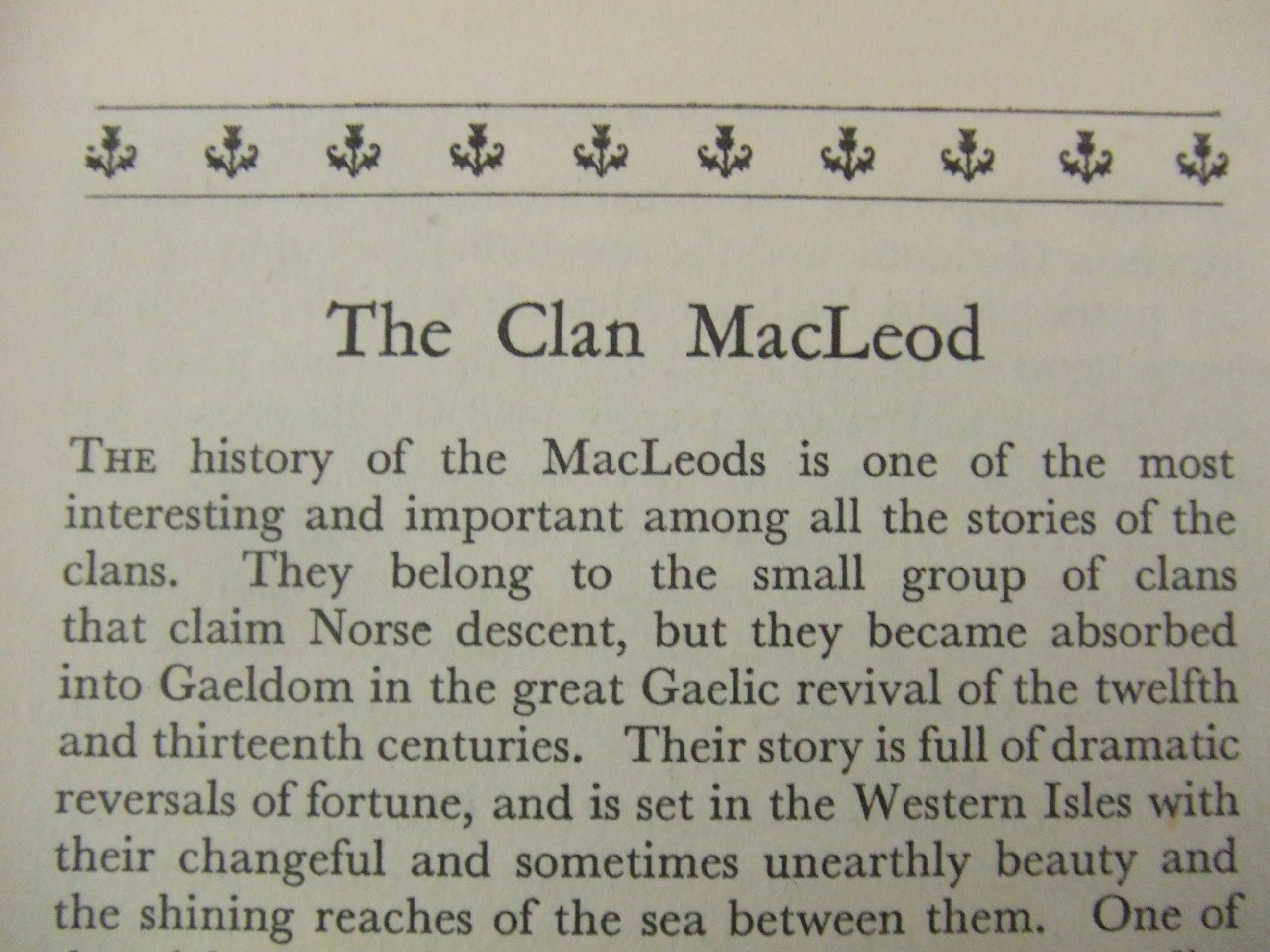Clan MacLeod, my clan