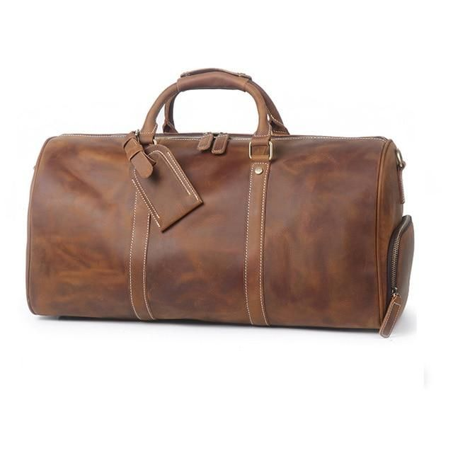 Leisure Leather Duffle Bag  Dapper  Leather  TravelBag  DuffleBag   OvernightBag  WeekendBag 1866590f63ea4