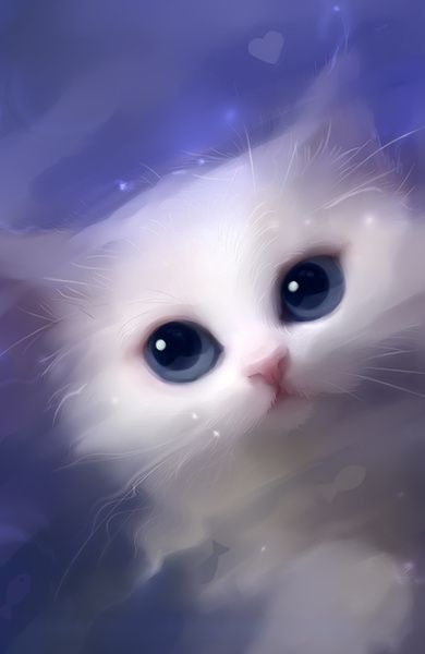 Adorable Animals Paintings By Rihards Donskis Cat Art Cute Animals Animal Paintings Anime white cat wallpaper