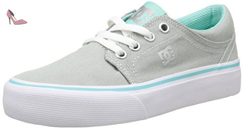 DC Shoes Trase Tx G, Sneakers Basses fille, Gris (Grey/Blue)