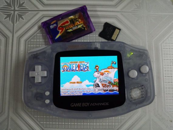 Backlit Mod Nintendo Gameboy Advance Glacier With Ags 101 Backlight Glass Lens Gameboy Nintendo Gameboy Advance