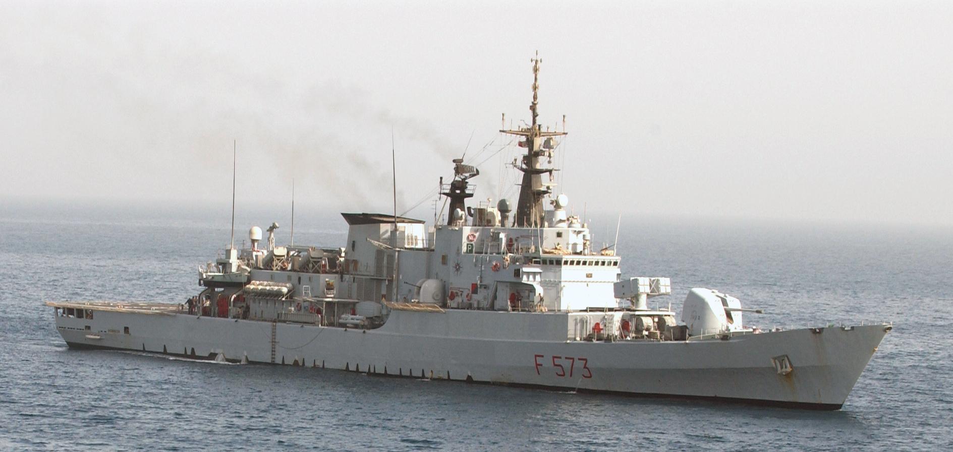 Italian Maestrale class frigate ITS Scirocco (F 573)