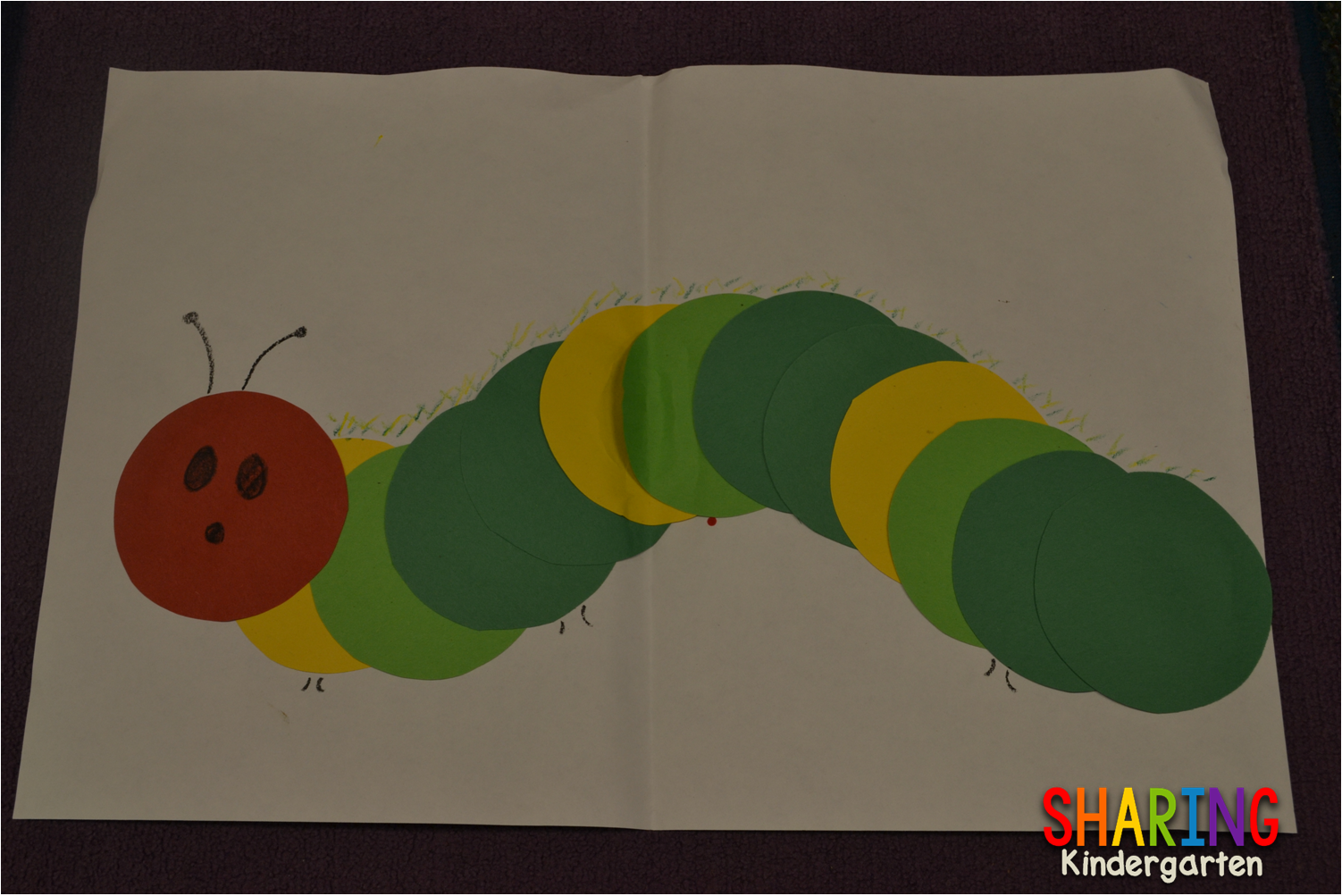 fun and easy art project to use with the book The Very Hungry ...