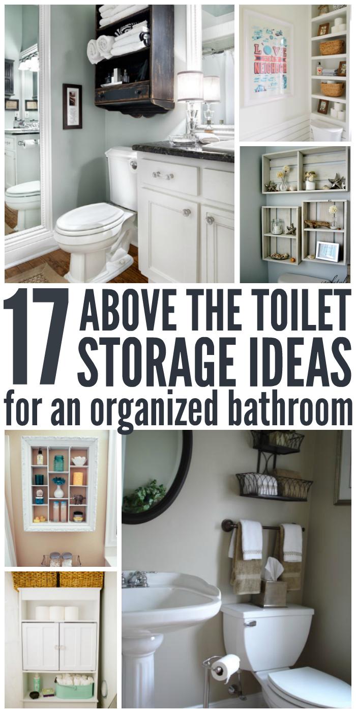 stunning bathroom shelves over toilet storage | 17 Brilliant Over the Toilet Storage Ideas | One Crazy ...