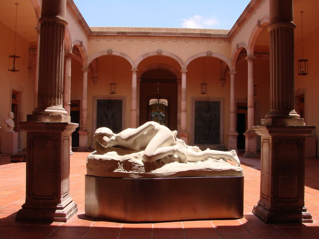 Museo de Aguascalientes. First of two interior courtyards ...