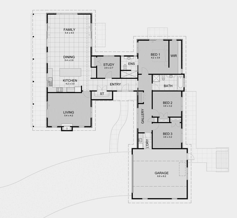 David Reid Homes - Pavilion 2 specifications, house plans & images. My only issue is laundry access to clothesline via gge.