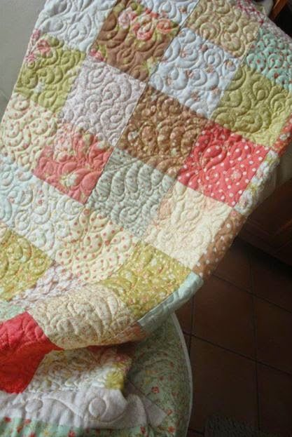 EL PATCHWORK DE KRIS: Quilt en tonos pastel