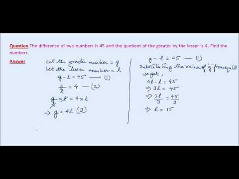 A Word Problem on Simultaneous Linear Equations involving 2