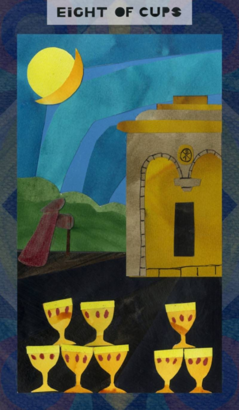 Eight of cups tarot card meaning love health money