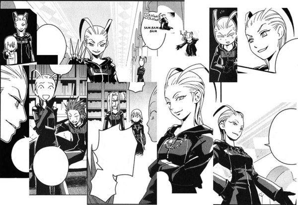 Sora Kingdom Hearts Lineart : Kingdom hearts larxene manga saix