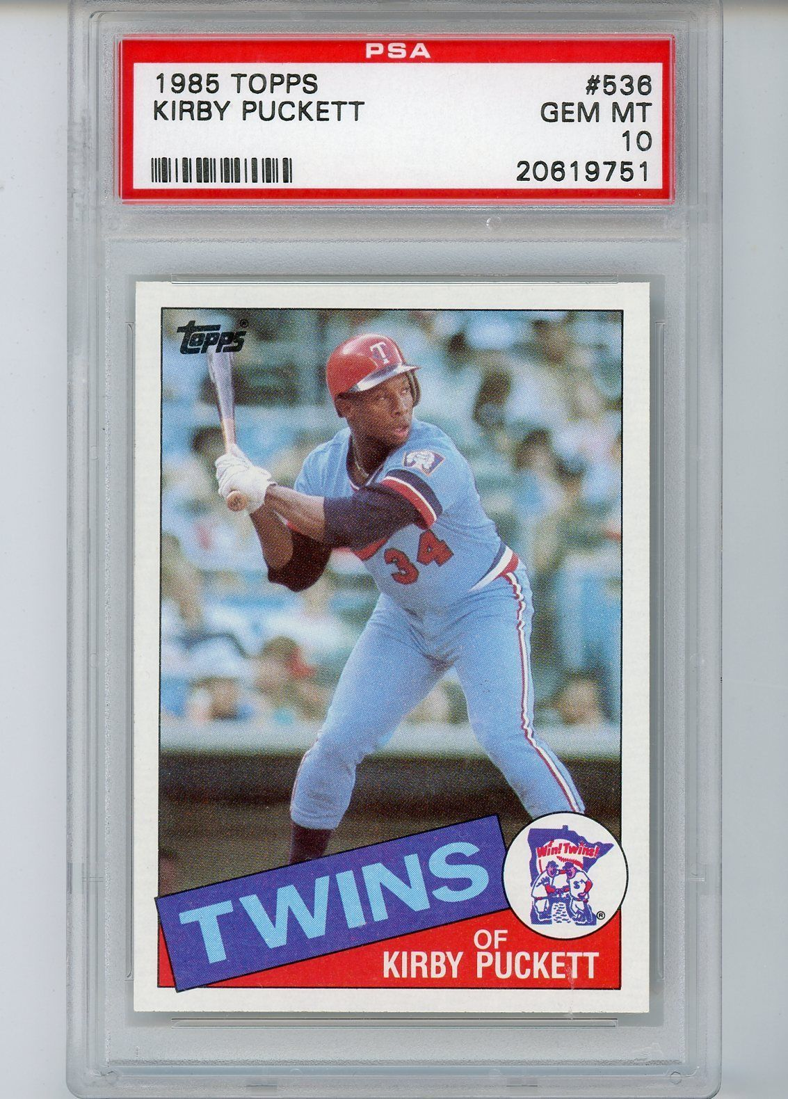 1985 Topps Baseball 536 Kirby Puckett Rookie Card Psa 10